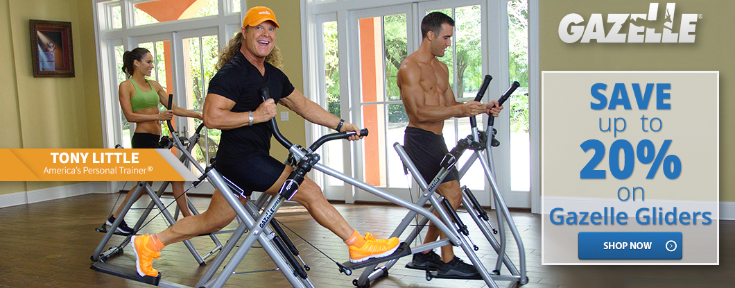 Save up to 20% on Gazelle Gliders Today! Discover the best in at-home full-body aerobic exercise!